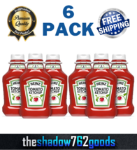 Heinz Tomato Ketchup 44 oz Squeeze Bottles No Preservatives Condiments 6-PACK - $30.22