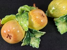Vintage Arnalt Japan Wall Hung Fruit, Lemon and Pear, Ceramic Capodimonte Style image 2