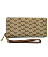 NWT Michael Kors Jet Travel Continental Natural/ Luggage Large Wallet - $129.99
