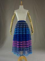 Gray Midi Tulle Skirt Tiered Tutu Skirt Ballerina Tulle Skirt image 8