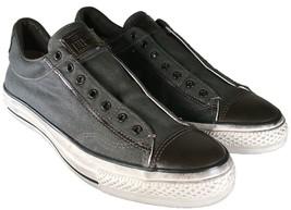 Converse John Varvatos Vintage Canvas Chuck Taylor Slip on Sneaker GRAY ... - $59.95