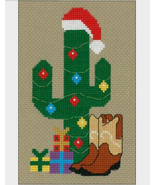 Imaginating Cowboy Christmas Cross Stitch Kit, 3x6in, 14 ct aida XMAS co... - $14.99