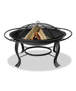 Uniflame Wood Burning Firepit Wrought Iron 30 inch Patio Deck Fireplace     - $107.75