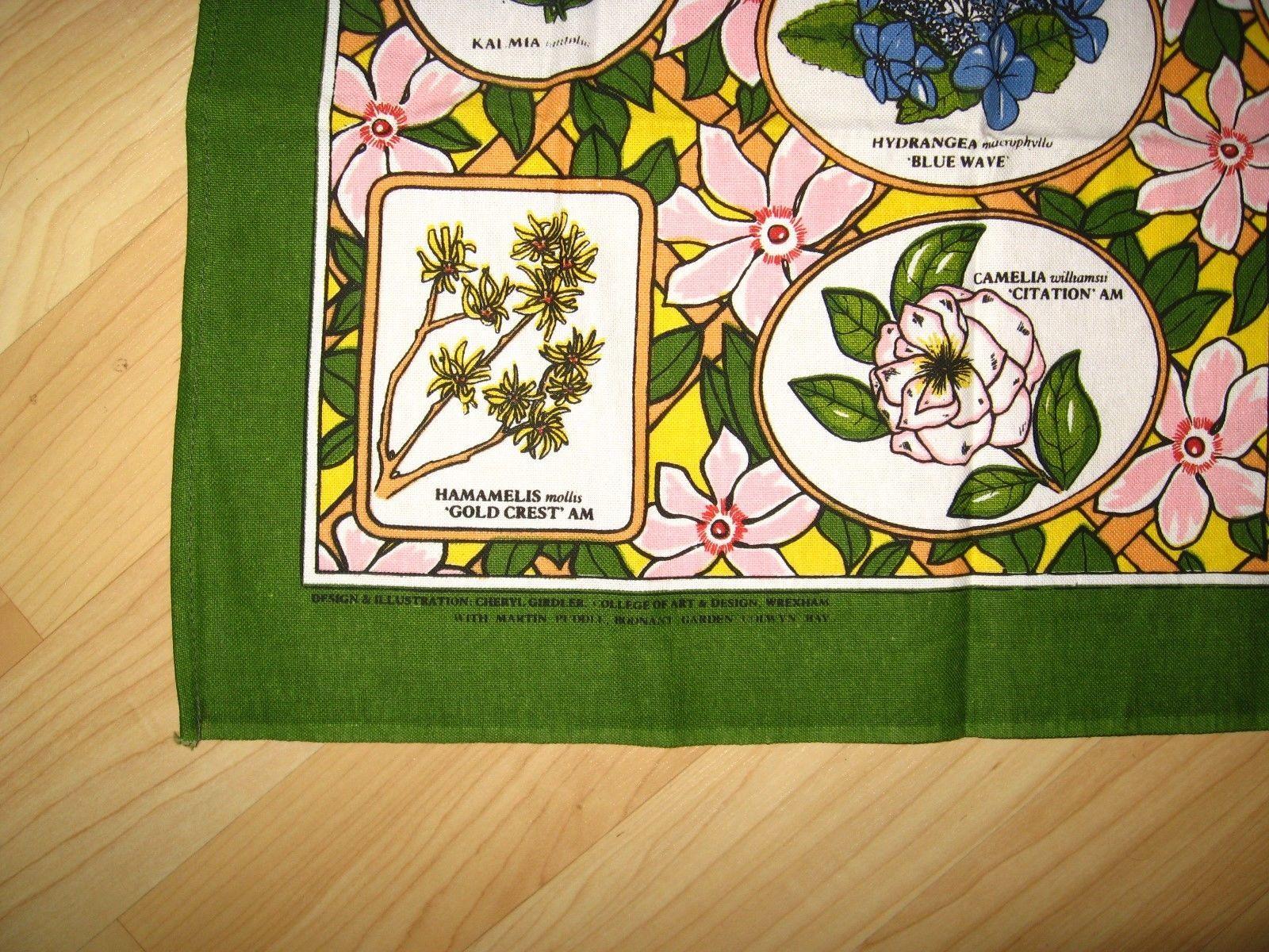 Bodnant Garden Souvenir Tea Towel - Vintage Sally Jane Textiles Colwyn Bay Wales image 4