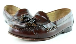 Cole Haan Dark Brown / Reddish Brown Tassel Loafers Men's 8.5 D Dress Shoes - $34.95