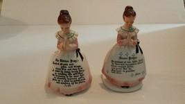 Enesco Pink Mother in the Kitchen Dinner Prayer Napkin Holder Salt Peppe... - $49.49