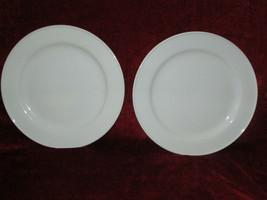 "Pottery Barn Great White set of 2  dinner plates 11 5/8"" - $19.75"