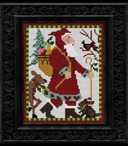 Woodland Santa Christmas cross stitch kit Colonial Needle  - $27.00