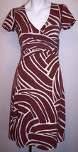 BCBG Dress XS Brown Artsy Stretch Jersey Knit Career Women's - $16.50