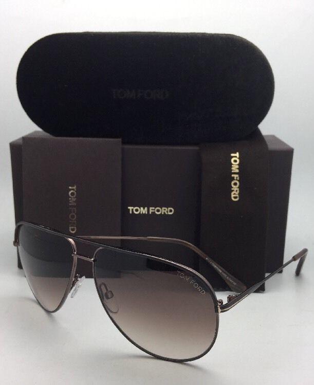 435cecfc53e7b New TOM FORD Sunglasses ERIN TF 466 49E 61-12 Matte Brown Aviator w  Brown  Fade