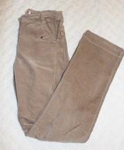 Deux Par Deux Girls Pants Size 12 Tan Velvet Soft Touch Adjustable Waist... - $18.80