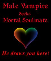 gnn spr Male Vampire Seeks Mortal Soulmate He Draws UHere Betweenallworl... - $149.25