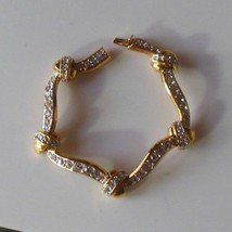Joan Rivers Gold-tone Clear Rhinestone Knotted Look Bracelet  - $31.68