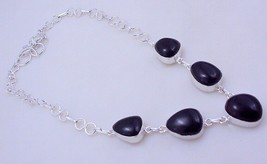 Smoky Silver Overlay Handmade Jewelry Necklace 36 Gr. F-288  /5 - $15.30
