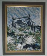Original Contemporary Signed Oil on Canvas, Framed, Seascape, Waves - $99.90