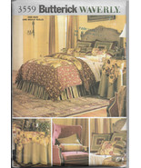 Butterick 3559 Waverly Ensemble Bedroom Decor Duvet Cover 3 Sizes Pillow... - $11.00