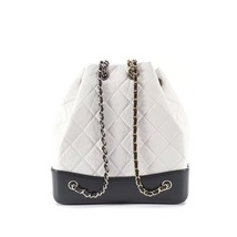 BNIB 2019 Chanel White Black Gabrielle Quilted Leather Bucket Bag RECEIPT  image 3