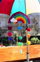 Rainbow Mobile, #StaySafe, Handmade Crochet - $45.00