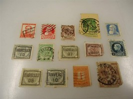 Vintage Official Belgium Postage Stamp Used Collection Lot of 14 - $12.42