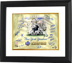 New York Yankees signed 16x20 Photo Custom Framed 1998 WS Champs Celebration Col - $248.95