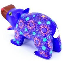 Handmade Oaxacan Copal Wood Carving Painted Folk Art Hippopotamus Hippo Figure image 2