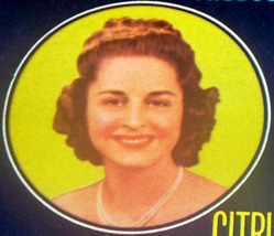 Prom Queen! Ruby Crate Label, 1940's  - $1.49