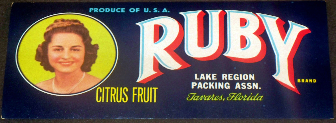 Prom Queen! Ruby Crate Label, 1940's