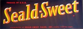 Florida Citrus! Seald-Sweet Crate Label, 1950's  - $3.89