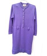 Vtg 50s Junior Sophisticates Dress 100% Wool Sheath Lavender Bombshell S... - $162.89