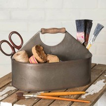 Farmhouse CRAFT ROOM CADDY With HANDLE Country Rustic Primitive Storage - $45.99