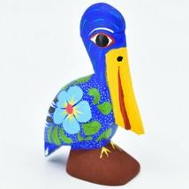 Handmade Alebrijes Oaxacan Copal Wood Carving Painted Folk Art Pelican Bird image 1