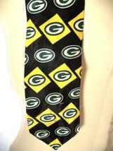 1995 Vintage Ralph Marlin Green Bay Packers NFL Football Necktie Tie 100... - $14.81