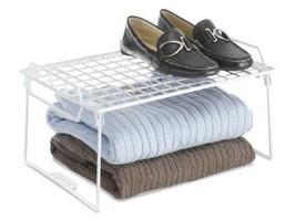 Folding Stackable Rack Space Saver Closet Books Clothes Shoes Dorm Room Tool NEW - $28.46