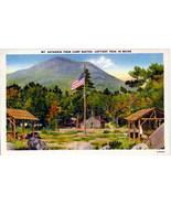 Mt Katahdin from Camp Baxter Maine Linen Postcard - $3.00