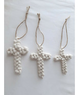 Cotton Rope Cross, Set of 3 Wall Cross, Religious Home Decor, Rope, Rust... - $25.79