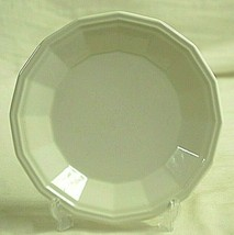 Colonial White by Homer Laughlin Salad Plate All White Multi-Sided Discontinued - $14.84