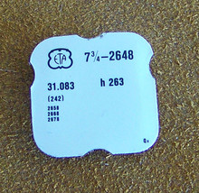 ETA 7 3/4 L cal 2648 h263 part #242 Center Wheel & Canon Pinion Watch Part - $25.00