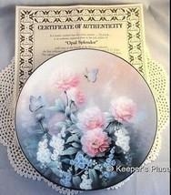 Knowles Opal Splendor Limited Edition Collectors Plate By Tan Chun Chiu Mint COA - $14.00