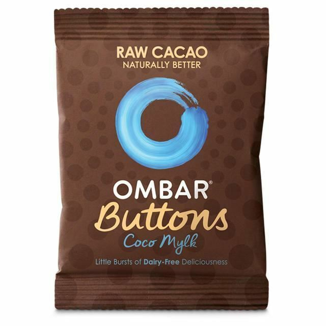 Ombar Coco Mylk Raw Chocolate Buttons 25g, 3 Pack