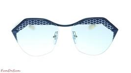 BVLGARI Women Designer Sunglasses BV6109 205172 Blue Gold/Light Blue Len... - $247.35