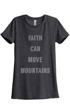 Thread Tank Faith Move Mountains Women's Relaxed T-Shirt Tee Charcoal Grey - $24.99+