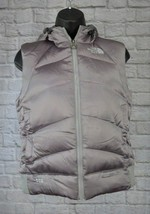 The North Face Silver/Gray 550 Goose Down Puffer Vest Womens Small FLAW - $29.39
