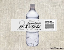 25th Wedding Anniversary Heart Party Favors Water Bottle Labels Personal... - $3.96+