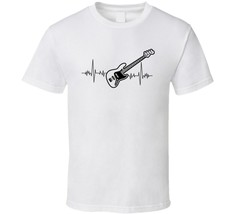 Bass Guitar Heartbeat Music Lover T Shirt Novelty Rock Fashion Glam Gift... - $12.84+