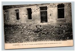 Vintage 1914 Photo Postcard WW1 Bombing Damage Seminary Soissons France - $17.84