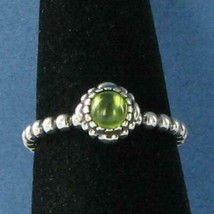 Pandora 190854PE 52 Birthday Blooms Ring August Peridot Sterling Silver ... - $41.70