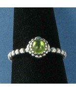 Pandora 190854PE 52 Birthday Blooms Ring August Peridot Sterling Silver ... - $41.70