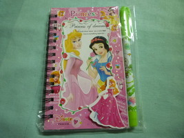 Memo pad note / notebook disney princess spiral glitter shiny foil cover pen - B - $15.98
