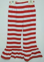 Blanks Boutique Girls Red White Stripe Ruffle Pants Size 2T image 1