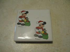 Walt Disney Collectible Magnet Vintage Mickey Mouse Christmas Santa - $4.19